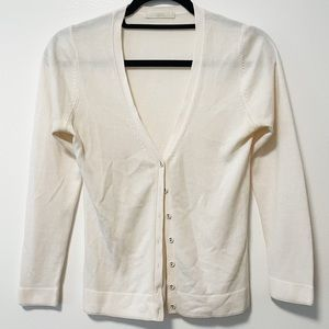3/$20 Marks & Spencer Cream Button Up Cardigan S